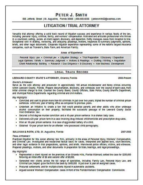 Juris Doctor Resume trial attorney resume exle resume exles resume