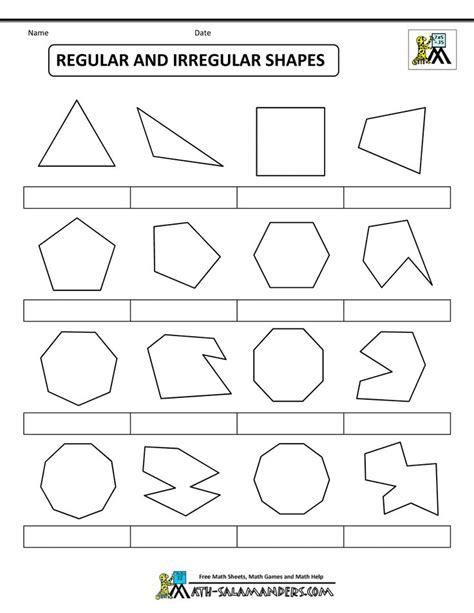 shapes worksheet ks1 irregular 2d shapes ks1 worksheet 3d shapes