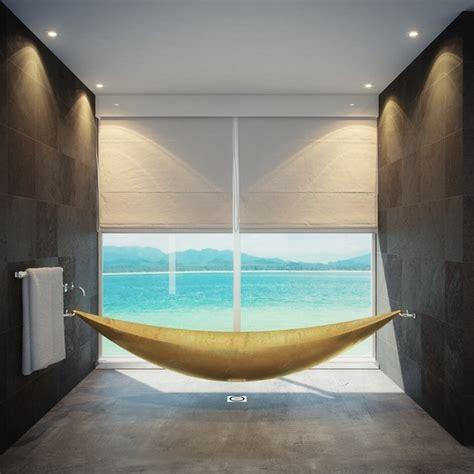 floating tub fancy hammock bath tub