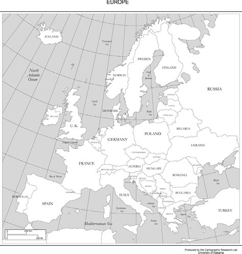map of europe with country names black and white maps of europe