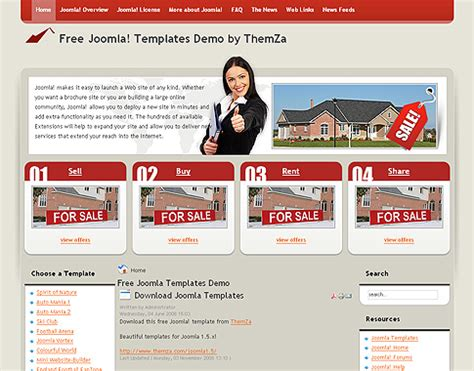 template joomla real estate free free joomla 1 5 x templates real estate by themza