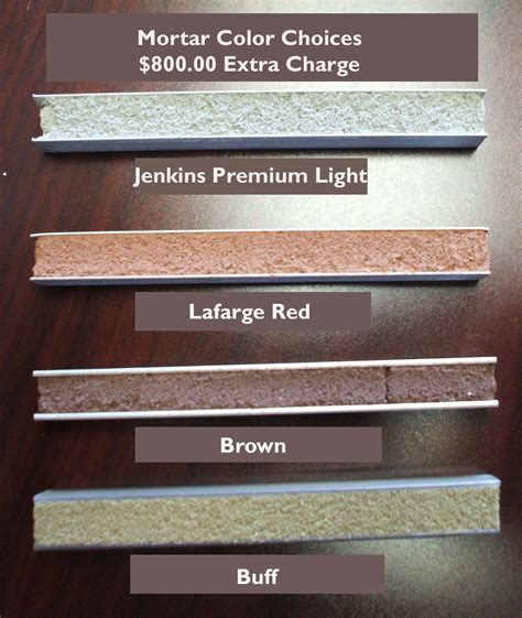 mortar color heritage home colors brick selections