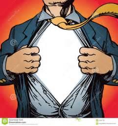 superhero opening shirt royalty free stock photo image
