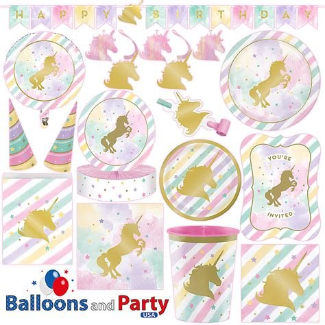 Star Home Decorations by Unicorn Sparkle Pony S Birthday Party Tableware