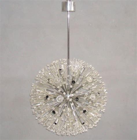 Emil Stejnar Snowflake Sputnik Thirty Three Light Snowflake Chandelier