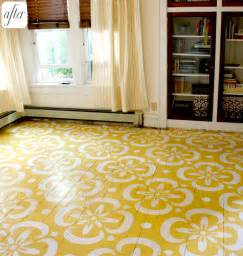 Painted Flooring by Before Amp After Lori S Painted Floor Design Sponge