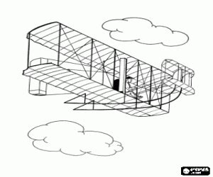 the wright brothers aircraft coloring page printable game
