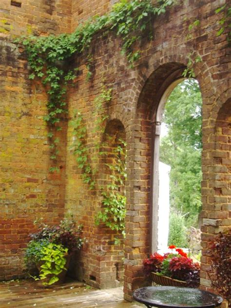 Barnesly Gardens by Barnsley Gardens House Ruins By Donna Penney