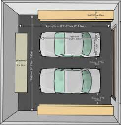How Wide Is A Two Car Garage by The Dimensions Of An One Car And A Two Car Garage