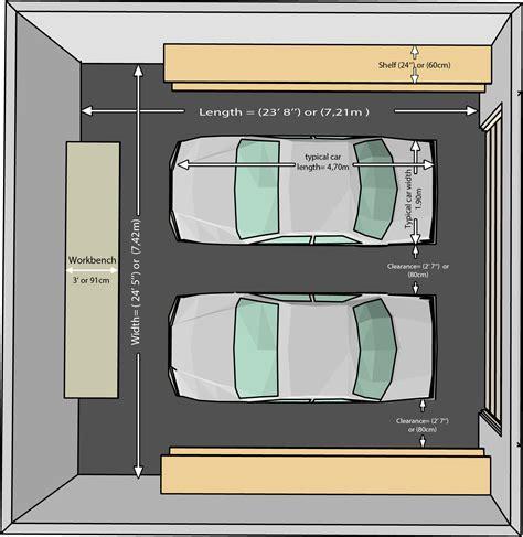 dimensi garasi  rak penyimpanan  dua mobil sumber decosoupcom