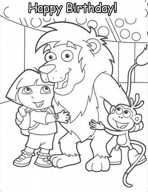 birthday lion coloring page surprise birthday party happy lion animations a 2 z