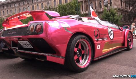 Lamborghini Diablo Pink Pink Lamborghini Diablo Gt With Powercraft Exhaust