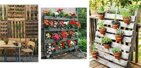 decoracion palets jardin jardineras con palets para la terraza o jard 237 n