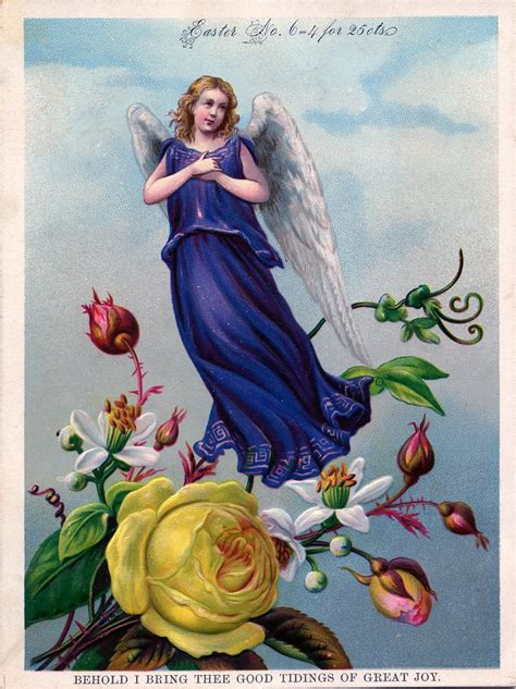 vintage easter images pretty angel  flowers  graphics fairy