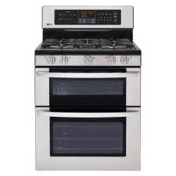 Ge Stainless Steel Cooktop Lg Ldg3037st 6 1 Cu Ft Double Oven Gas Range W