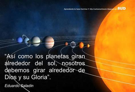 cuales son los planetas que giran alrededor del sol carlos mart 237 nez m aprendiendo la sana doctrina