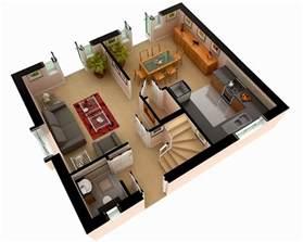 House plans free design builder superb d home designs on 3d house plan