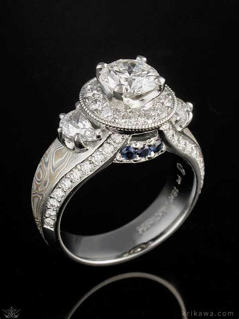 Side Accent Halo Ring 1216 66 best luxury rings images on