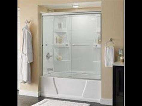 bathtub sliding doors installation how to install delta tub and shower sliding glass doors