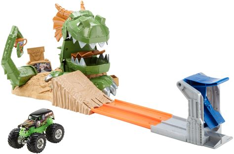 monster truck race track toys wheels 174 monster jam 174 dragon blast challenge play set shop wheels cars trucks race