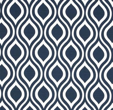 Designer Upholstery Fabric Ideas Modern Navy Blue Fabric By The Yard Contemporary Geometric Cotton Drapery Or Upholstery Fabric