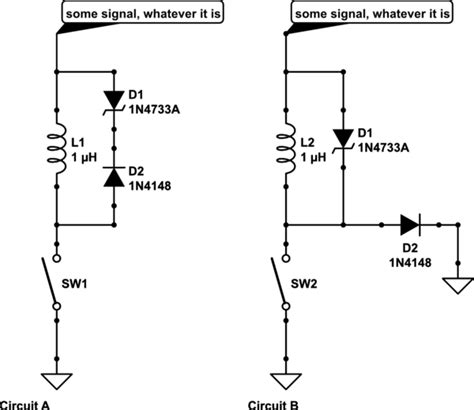 zener diode protection circuit switches quot a zener with series diode quot electrical engineering stack exchange