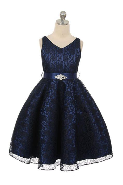 blue pattern lace dress navy blue flower girl dresses girls dress line