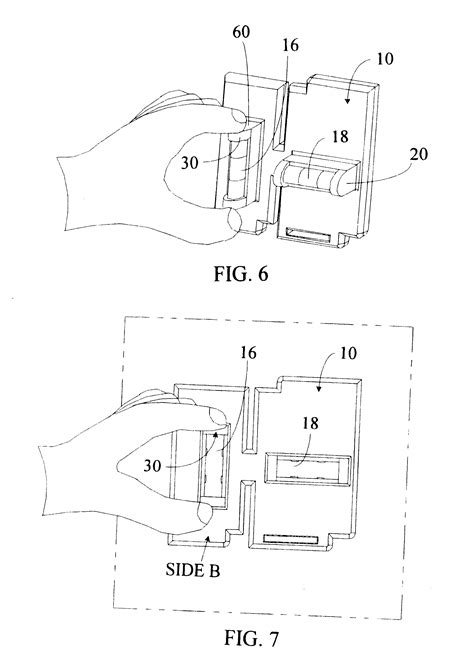 patent us6434848 template for scribbing electrical box