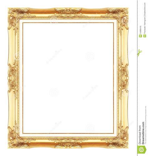 cornici oro cornici antiche dell oro isolato su bianco fotografia