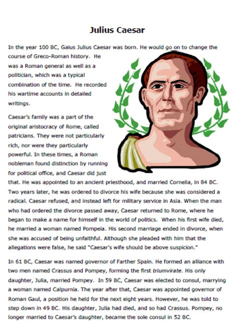 julius caesar biography for middle school julius caesar worksheets worksheets tataiza free