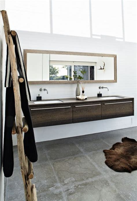 cantilevered bathroom vanity bathroom at the house in hedensten by jesper therkildsen