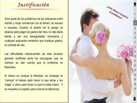 relaciones entre casados curso finanzas personales recien casados