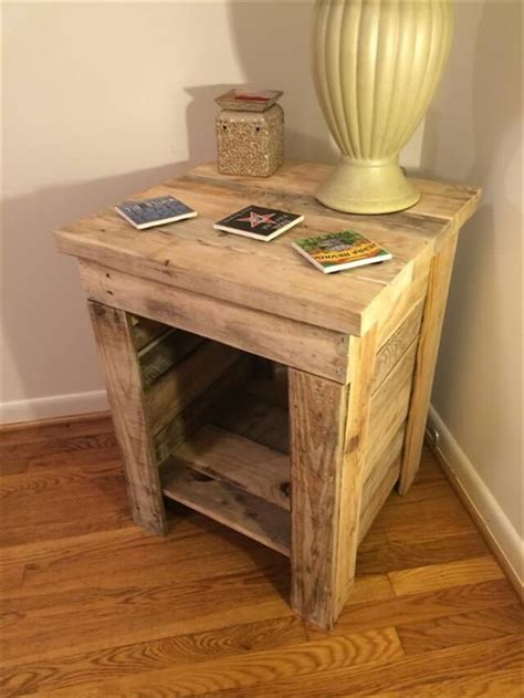 Side Table Ideas by 11 Diy Pallet Side Table Ideas Diy To Make