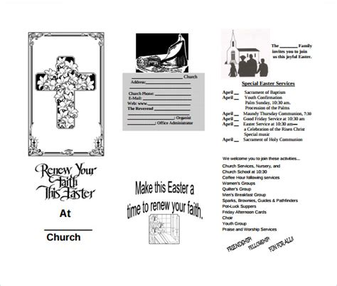 free church brochure templates for microsoft word 12 easter brochures vector eps pdf word