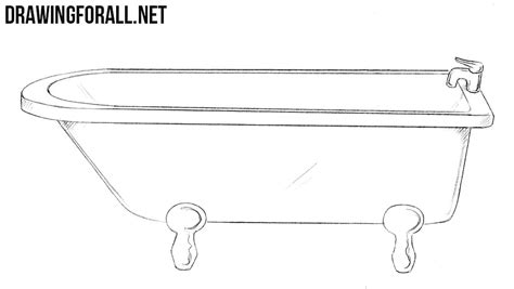 how to draw bathtub how to draw a bath drawingforall net