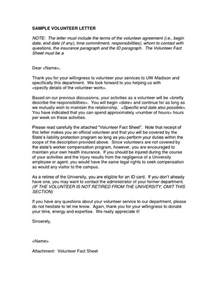 Cover Letter To Volunteer by Letter Volunteer Sle Dfwhailrepaircomvolunteer Work On