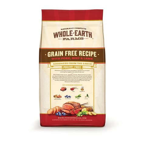 food recipes grain free galleon whole earth farms grain free recipe food pork beef 25 pound