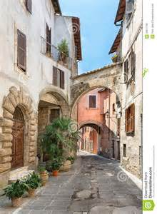 Town In Italy Pretty In The Ancient City Of Tuscany Royalty Free