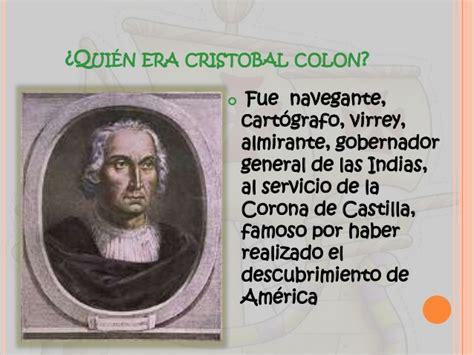 quien es cristoval colon cristobal colon