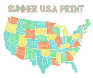 Printable Usa Map Colorful Usa Map Free Printable Lolly Jane