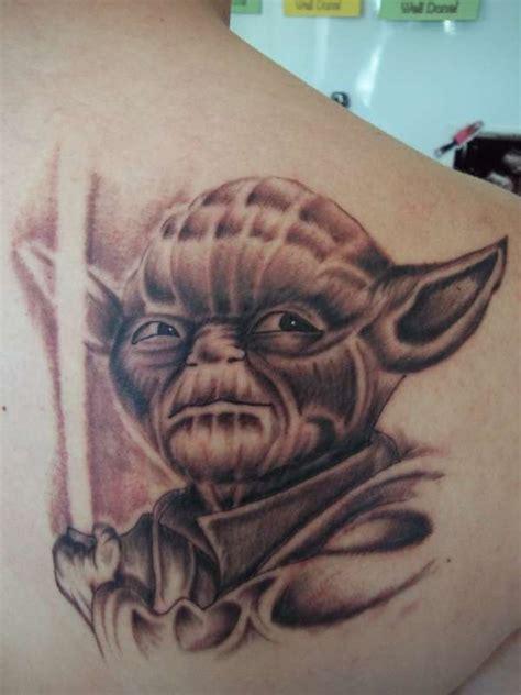 cartoon yoda tattoo yoda tattoo