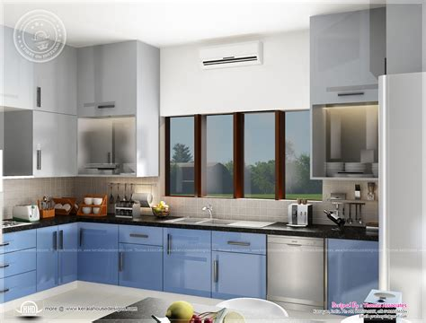 beautiful blue toned interior designs home kerala plans