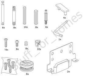 ikea bed frame screws ikea brusali bed set of screws and fixings nails dowels ebay