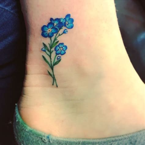 small forget me not tattoo forget me not ankle tatto