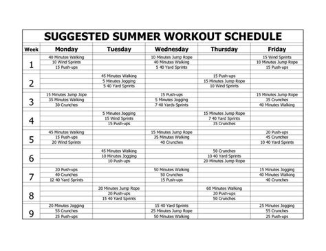 printable workout plan to lose weight and tone up weekly workout plan for weight loss and toning sport fatare