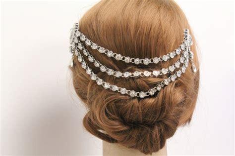 Vintage Bridal Hair Chain by Vintage Inspired Bridal Hair Chain Wedding Chain 1920