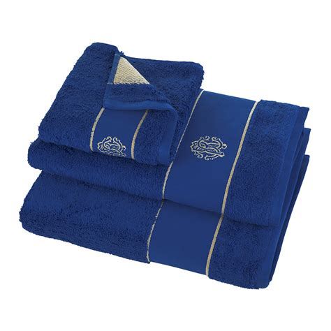guest bathroom hand towels buy roberto cavalli gold towel blue guest towel amara
