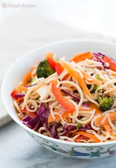 noodle salad recipes asian noodle salad recipe simplyrecipes com