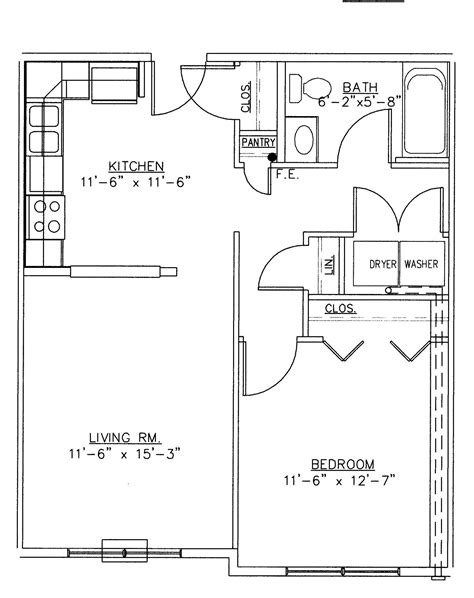 one room house floor plans extraordinary two bedroom bungalow plans for one bedroom