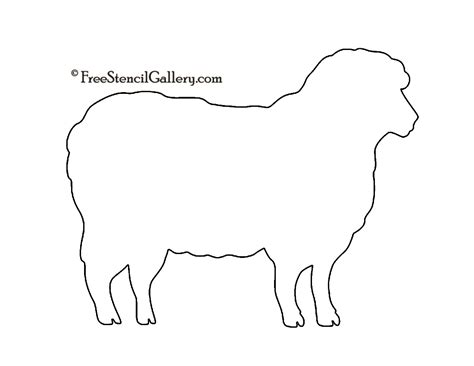 printable sheep template best photos of sheep outline printable printable sheep